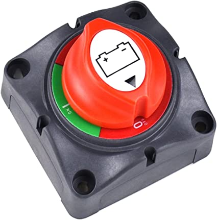 Battery Disconnect Switch,12-48 V Battery Cut Master Switch for Marine Boat RV ATV UTV Vehicles Waterproof Heavy Duty Battery Isolator Switch 275//1250 Amps On Off Position