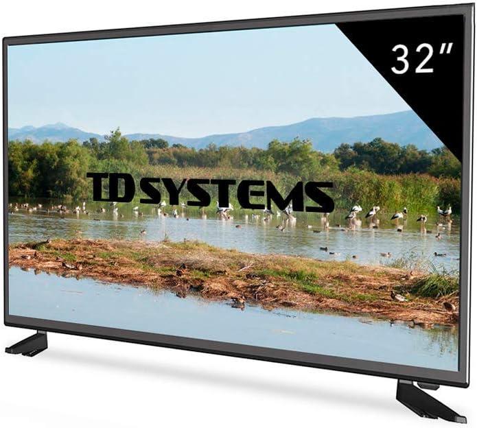 Televisor Led 32 Pulgadas HD, TD Systems K32DLM5H. Resolución 1366 x 768, 3X HDMI, VGA, USB Reproductor y Grabador.: Amazon.es: Electrónica