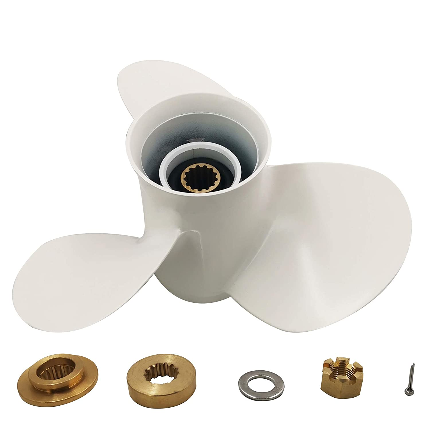 for Yamaha 25-60HP Aluminum 3 Blade Prop Propeller with All Kits