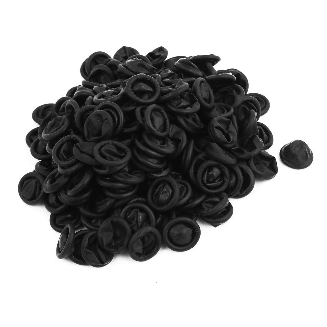 ESD Finger Cots, Black Color, 4 Mil Thick, Medium(Pack of 1000)