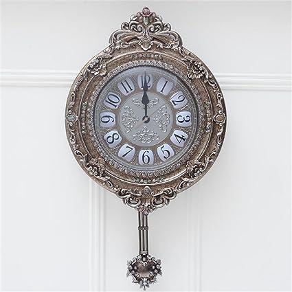 CZM ZHB Reloj Continental salón Reloj Campo Los Relojes de Pared Metope Adorno Creativo Moda Retro