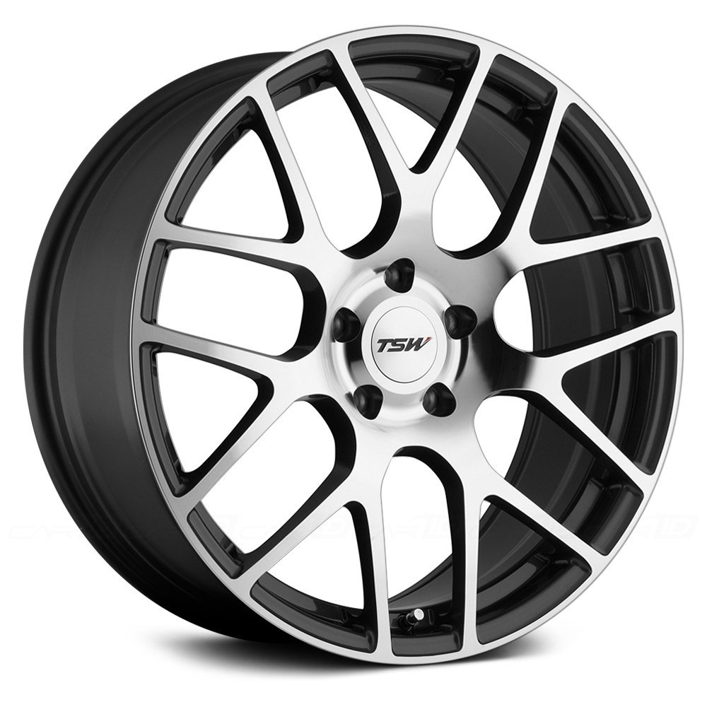 TSW Nurburgring Grey Wheel with Gunmetal Machined Face (18 x 8. inches /5 x 110 mm, 40 mm Offset)