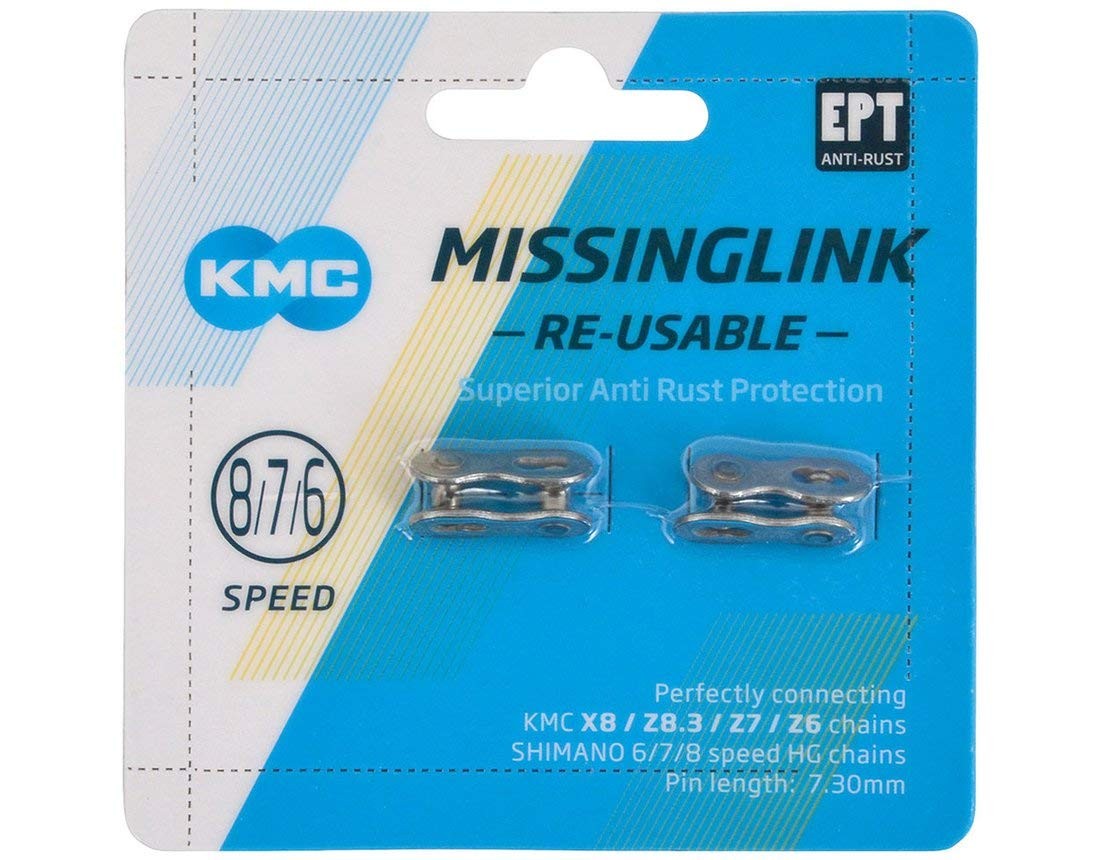KMC Missing Link 7,8,9,10,11,12 Speed Silver//Gold New Blue Packing
