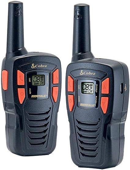 Cobra CXT145-2 MicroTalk 16 Mile Range 22 Channel 2 Way Walkie Talkie Radios