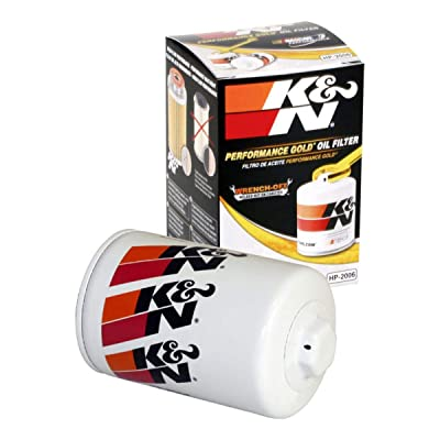 K&N Premium Oil Filter: Designed to Protect your Engine: Fits Select CHEVROLET/GMC/ BUICK/CADILLAC Vehicle Models (See Product Description for Full List of Compatible Vehicles), HP-2006: Automotive [5Bkhe2012189]