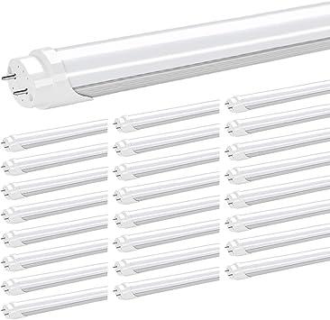 MILKY White 5000K 30PCS 4 Ft T8 Bulbs 15w LED Tube Light Lamp Single-End Power