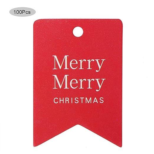 Tarjeta de Navidad Etiquetas de Regalo 100 Piezas Colgante ...