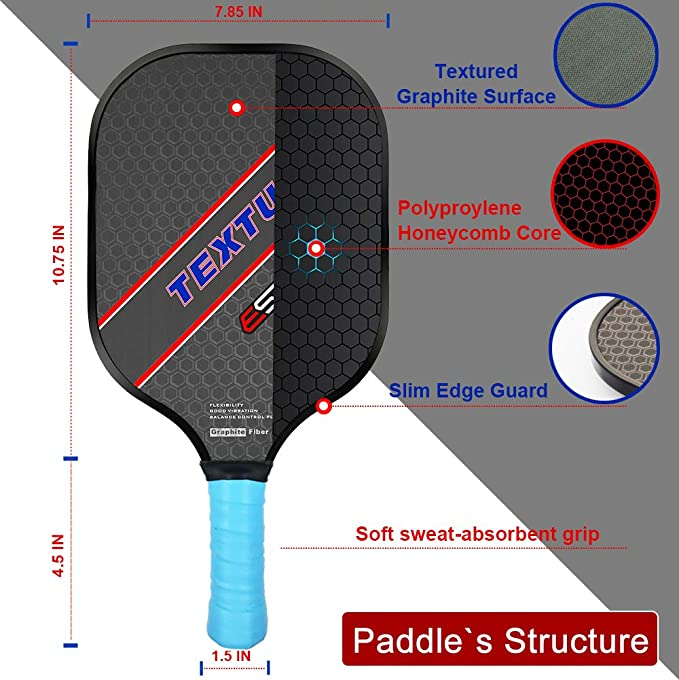 ESPER Pickleball Paddle Grafito superficie texturizada para ...