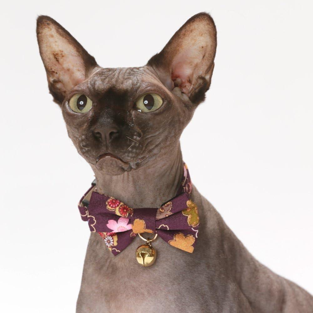 Amazon.com: necoichi japonés Kimono Bow Tie Gato Collar ...