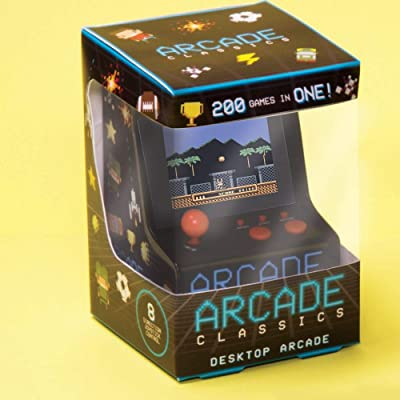 Fizz Creations Desktop Arcade Machine Retro Classic Gaming, Black and Multi Coloured, 9cm x 12cm x 9cm: Kitchen & Dining