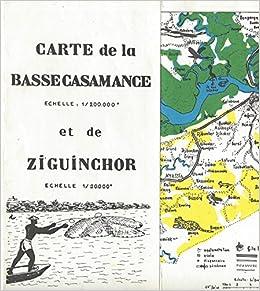 Carte de la Bassecasamance et de Ziguinchor Sngal chelle 1