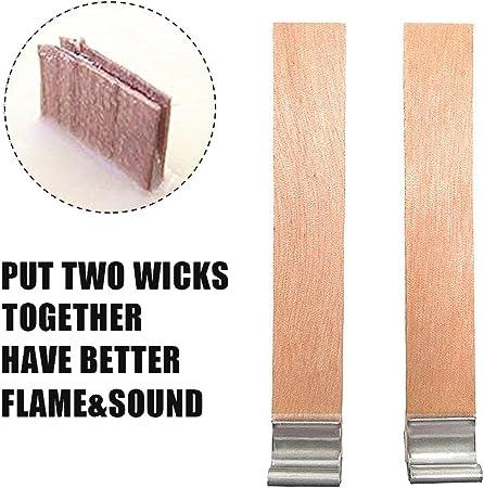 40 pcs//lote de madera cera mecha de vela para la fabricaci/ón artesanal de bricolaje hecho a mano 8/×90mm
