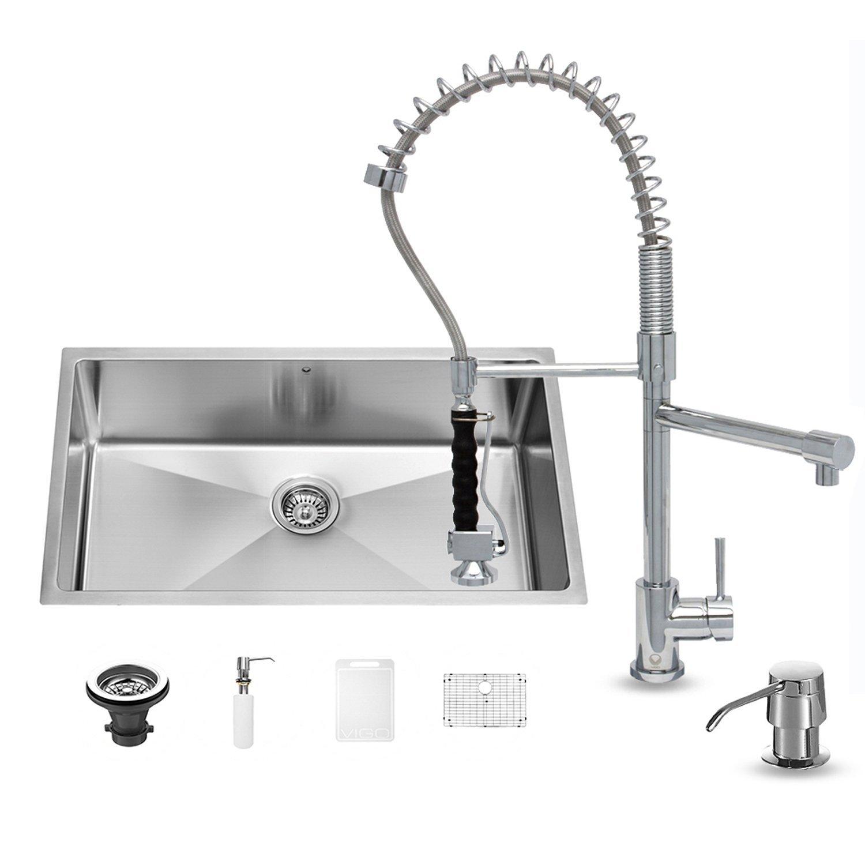 Unterbau Küche Spüle und Chrom Wasserhahn Set: Amazon.de: Baumarkt