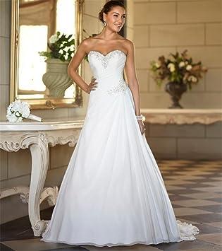 HAPPYMOOD Vestido de novia Top de encaje Boda Vestido de novia Vestido de fiesta de graduación