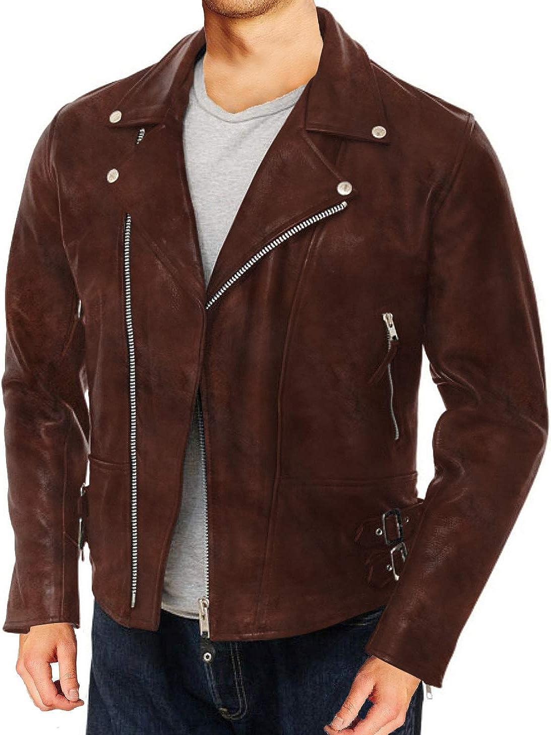 Laverapelle Mens Genuine Lambskin Leather Jacket 1501104 Black, Double Rider Jacket