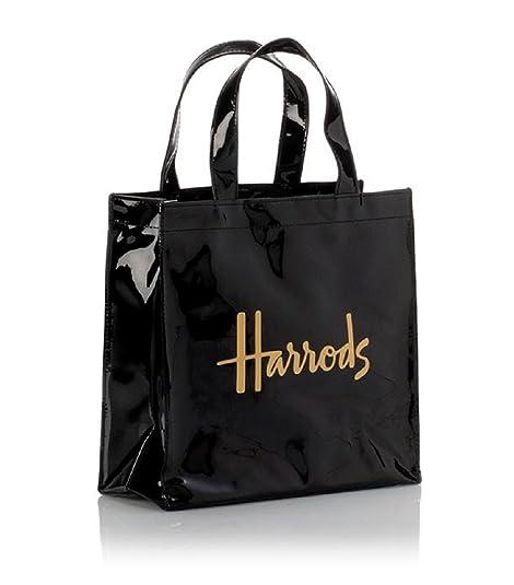 Harrods - Bolso de asas para mujer Negro Negro Small: Amazon ...
