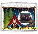 1/4 Sheet Camping Add Your Picture Photo Frame Edible Image Cake Topper