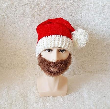 JYA SILK Sombrero de Santa, Sombrero de Lana de Lana, Suministros de Vacaciones, Gorras de Peluca Unisex para Adultos (Color : B): Amazon.es: Hogar