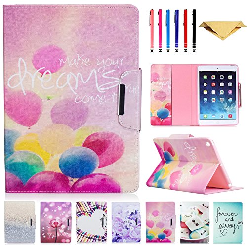 02 Leather Carrying Case - Monstek New iPad 9.7 2017 Case - Smart PU Leather Case Flip Wallet Case Cover with Kickstand Magnet Protective Case for New iPad 9.7 2017 - 02 Fly Your Dream