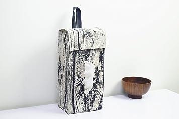 Cysincos Wa - Bolsa de pañuelos para colgar en la pared, papel higiénico, servilletero
