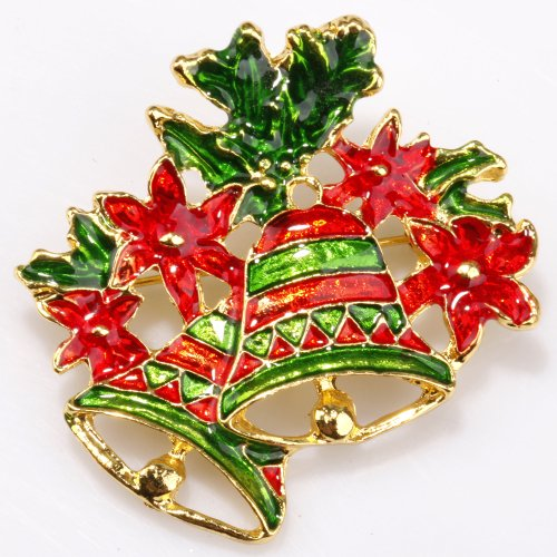 ILOVEDIY Christmas Tree Brooches and Pins in Bulk for Christmas Decorations (Gingle (Gingle Bells)
