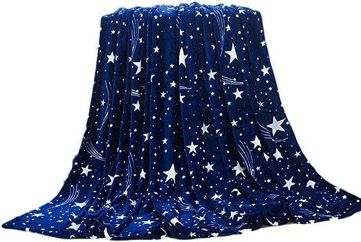HOT Blue Star Sky Soft Microplush Throw Blanket Rug Plush Fleece Sofa Bed Decor