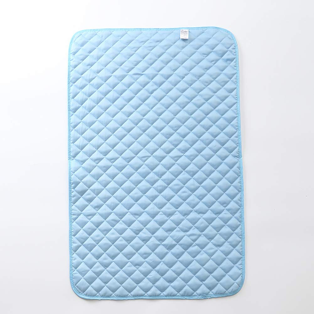 Large Dog Cat Cool Mat,Dog Cooling Pad Ice Silk Material Heat Absorption and Heat Dissipation Function Can be Used for Dog Crates Kennels and Beds,L