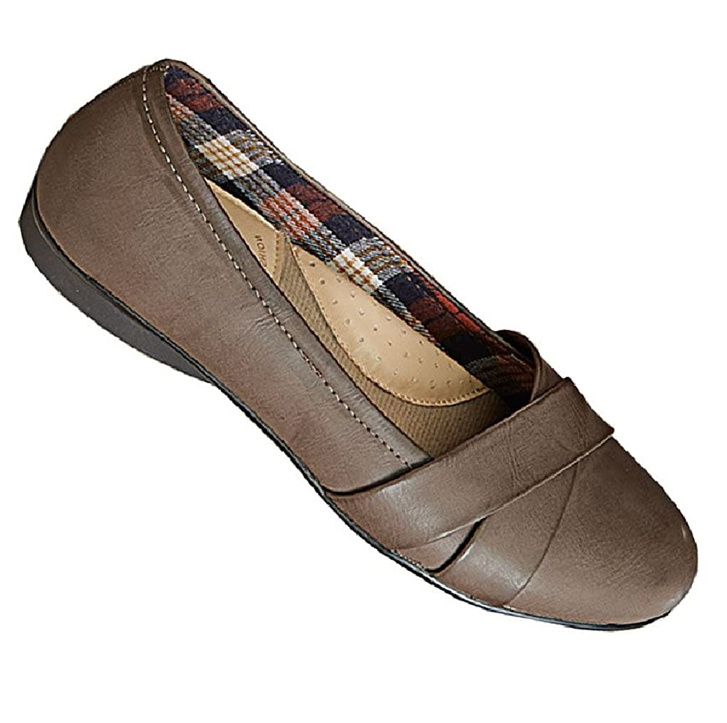 ee73f79cd56 Gold Toe Amber Womens Comfortable Memory Foam Work Shoe,Dressy Ballet  Flat,Business Casual Office Shoes Women