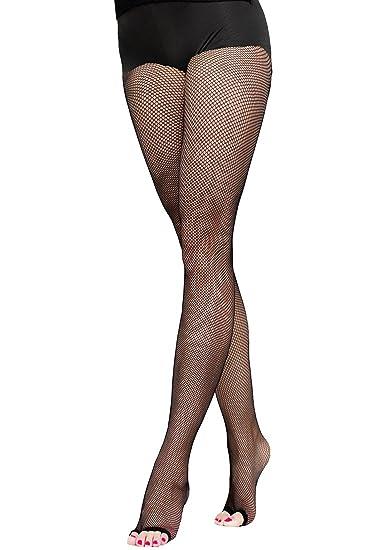 cca076d1612 Velidy Women s Professional Dance Open Toe Fishnet Tight Stockings Latin  Dance Pantyhose (Black)