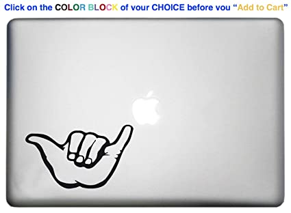 Amazon Shaka Sign Macbook Pro Decal Is A Shaka Hang Loose Decal