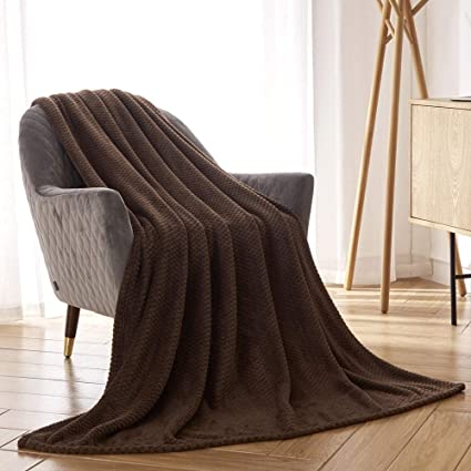 Tremendous Cai Teng Flannel Fleece Blanket Super Soft Warm Cozy Bed Blanket Plush Lightweight Sofa Throw Blanket Chocolate Brown Twin Size 50 X 60 Inches Cjindustries Chair Design For Home Cjindustriesco