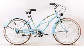 VELO VTC Beach Cruiser - Bicicleta de montaña para Mujer (26 ...