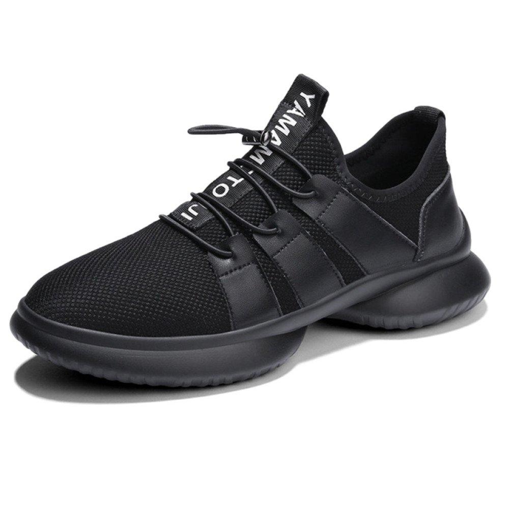Calzado Deportivo Hombre Unisex Zapatos De Lona De Verano Zapatillas De Correr Transpirable Fly-Weave 42 EU|Black
