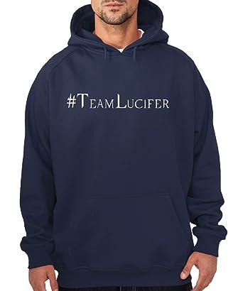 Hashtag Lucifer -- Boys Kapuzenpullover Navy, Größe S