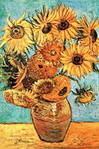 - Vincent Van Gogh Vase with Twelve Sunflowers 1888 Art Print Poster 24x36 inch