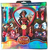 Townley Girl Disney Elena of Avalor Cosmetic Set with Nail Polish, Lip Balms and Glosses, Hair Bows and Mirror