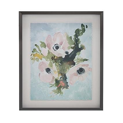Amazon.com: Madison Park Winter Bouquet Framed Artistic Floral ...