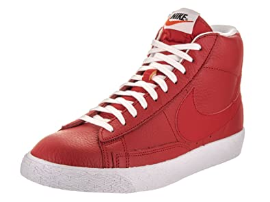 Nike Men's Blazer Mid Prm Casual Shoe Red/White/Black