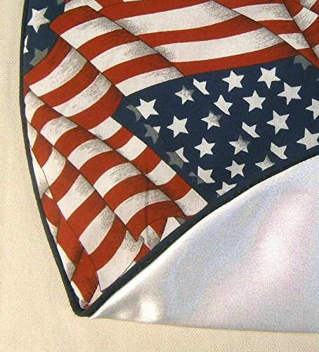 Small Tabletop Patriotic / Fourth of July Tree Skirt , 21'', U.S. Flag Pattern by Arkansewn (Image #2)