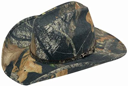 2e6bb6c57c6 Amazon.com  HorseSaddleShop Camoflage Mossy Oak Cowboy Hat  Sports ...