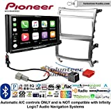Volunteer Audio Pioneer AVH-W4400NEX Double Din Radio Install Kit with Wireless Apple CarPlay, Android Auto, Bluetooth Fits 2007-2012 Hyundai Veracruz (Automatic A/C controls)