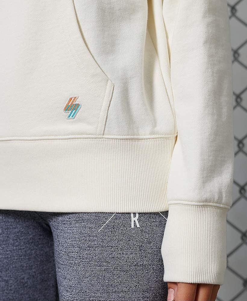 Superdry Damen Sportstyle Nrg Hood Hooded Sweatshirt Cream