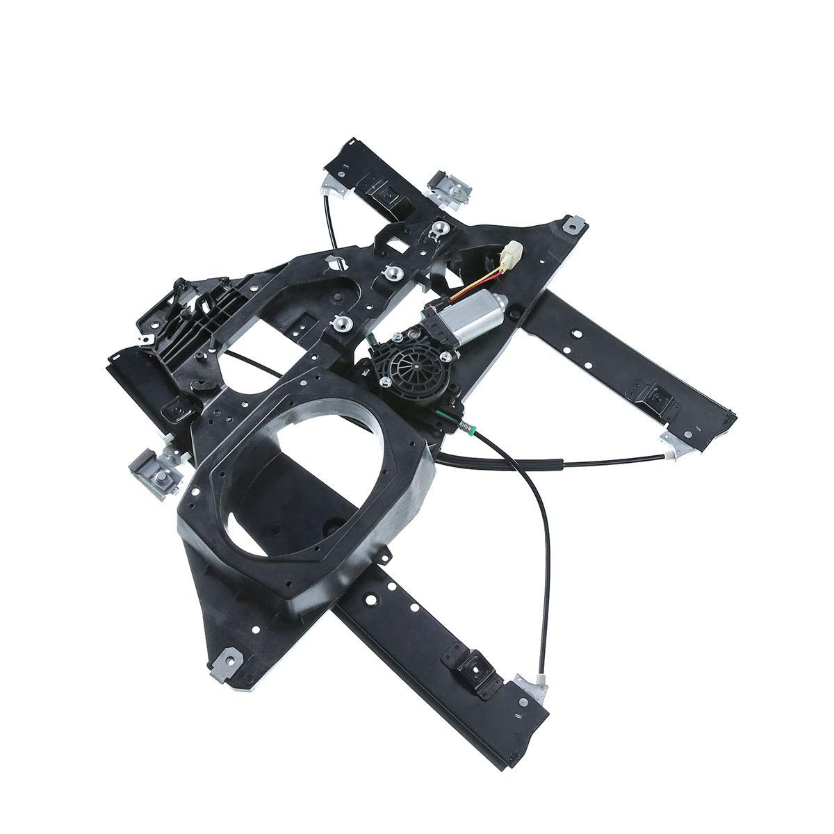 A-Premium Power Window Regulator with Motor and Panel for ford Expedition Lincoln Navigator 2007-2017 Front Right Passenger Side (with 2 Prongs Plug) by A-premium
