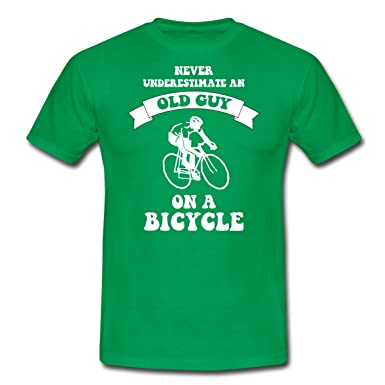 973f454cea2 Bicycle Never Underestimate An Old Guy Men s T-Shirt by Spreadshirt  174 