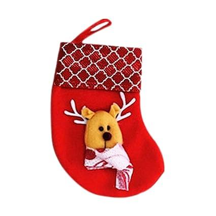 gespout 2 pieza Christmas Stocking Navidad calcetines calcetines de Navidad calcetines para chimenea Candy regalo dulces