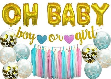 Amazon.com: Kit de fiesta de género para niños y niñas de 2 ...