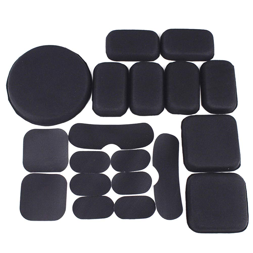 Fedi Apparel Motorcycle Helmet Pads 19pcs/Set Soft and Durable EVA Cycling Helmet Replacement Accessories