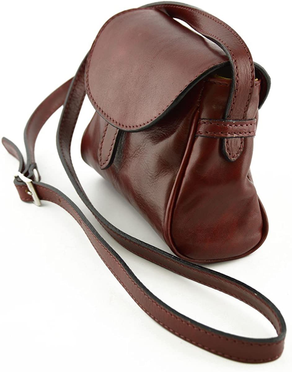 Mini Shoulder Leather Bag For Woman Color Red