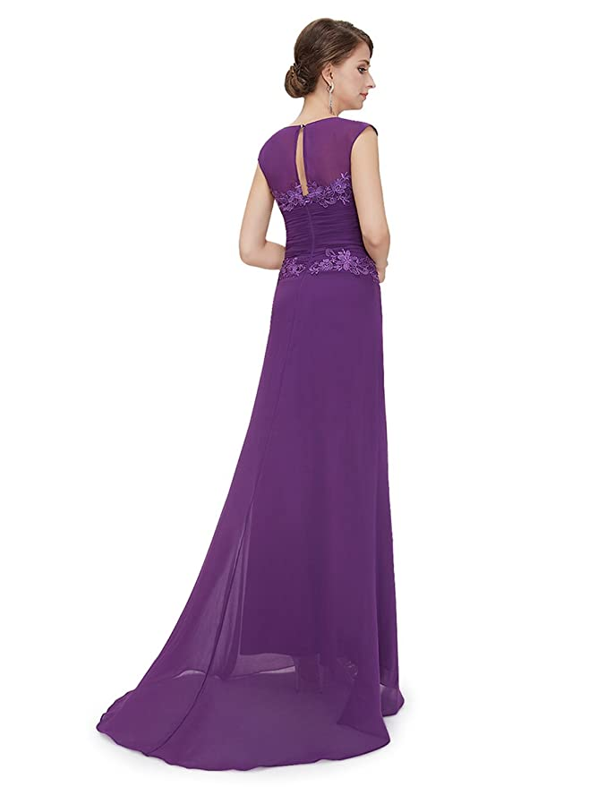 Quissmoda Vestidos Fiesta largo talla 42, color morado: Amazon.es ...