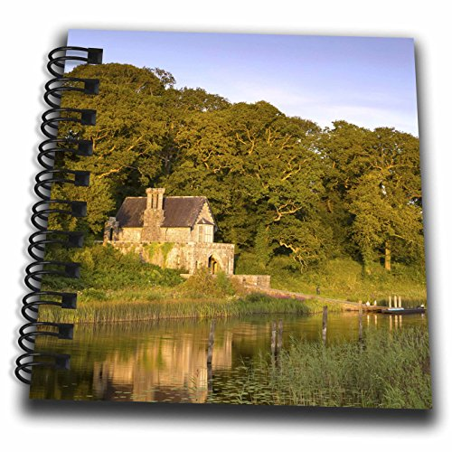 3dRose Danita Delimont - Castle - Crom Castle Boathouse along Upper Lough Erne, Northern Ireland, UK - Mini Notepad 4 x 4 inch (Crom Mini)